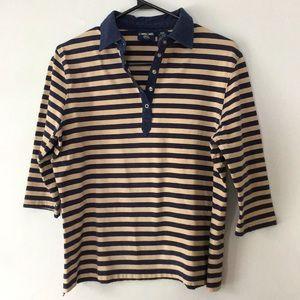 Vintage Cherokee Striped Collared Shirt Women's M